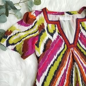 TRINA TURK Retro Silk Tunic Dress 6